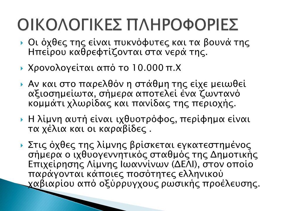 ΟΙΚΟΛΟΓΙΚΕΣ ΠΛΗΡΟΦΟΡΙΕΣ