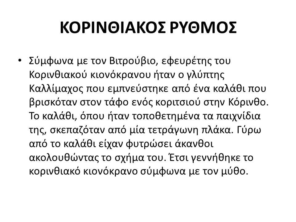 ΚΟΡΙΝΘΙΑΚΟΣ ΡΥΘΜΟΣ