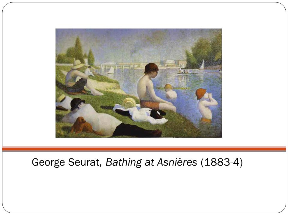 George Seurat, Bathing at Asnières (1883-4)