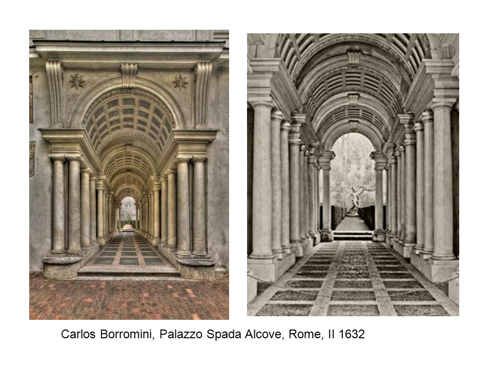 Carlos Borromini, Palazzo Spada Alcove, Rome, II 1632