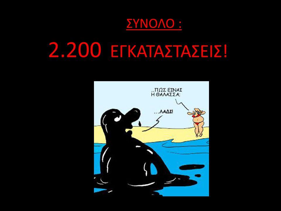ΣΥΝΟΛΟ : 2.200 ΕΓΚΑΤΑΣΤΑΣΕΙΣ!
