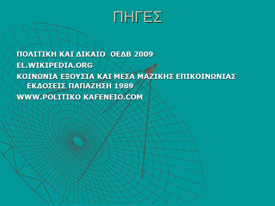 ΠΗΓΕΣ ΠΟΛΙΤΙΚΗ ΚΑΙ ΔΙΚΑΙΟ ΟΕΔΒ 2009 EL.WIKIPEDIA.ORG