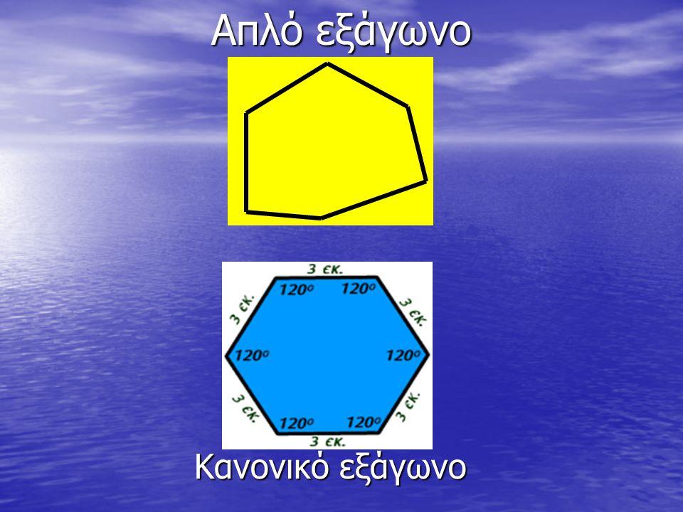 Απλό εξάγωνο Κανονικό εξάγωνο