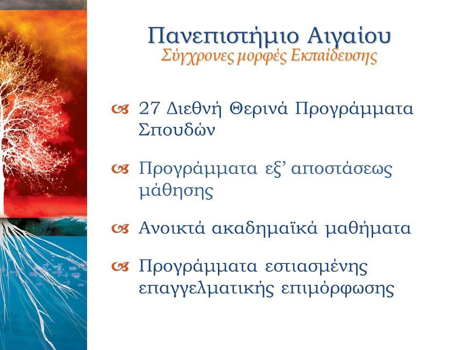 Πανεπιστήμιο Αιγαίου Σύγχρονες μορφές Εκπαίδευσης