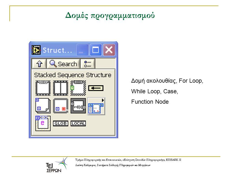 Δομές προγραμματισμού