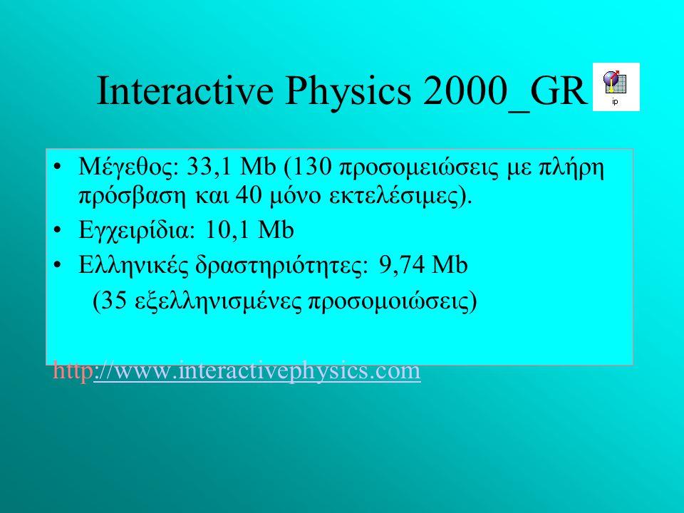 Ιnteractive Physics 2000_GR
