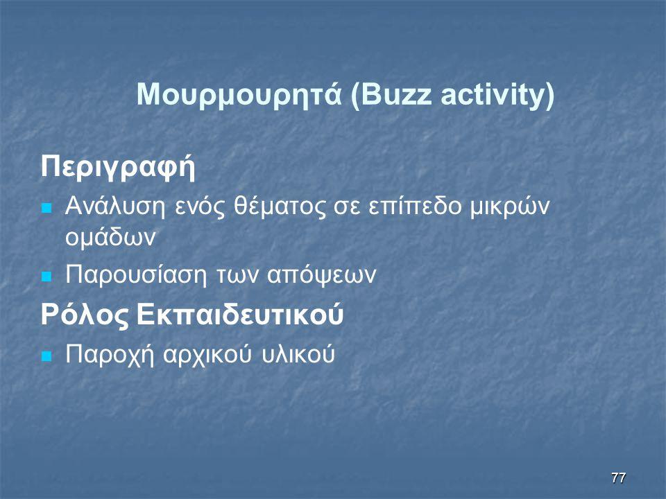 Μουρμουρητά (Buzz activity)