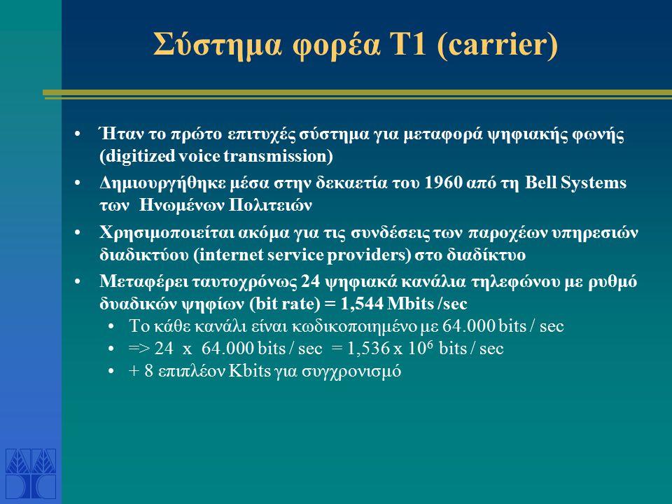 Σύστημα φορέα Τ1 (carrier)