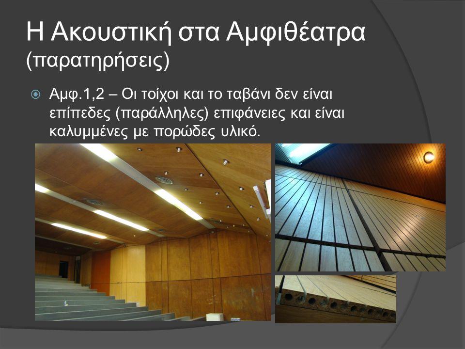 Η Ακουστική στα Αμφιθέατρα (παρατηρήσεις)
