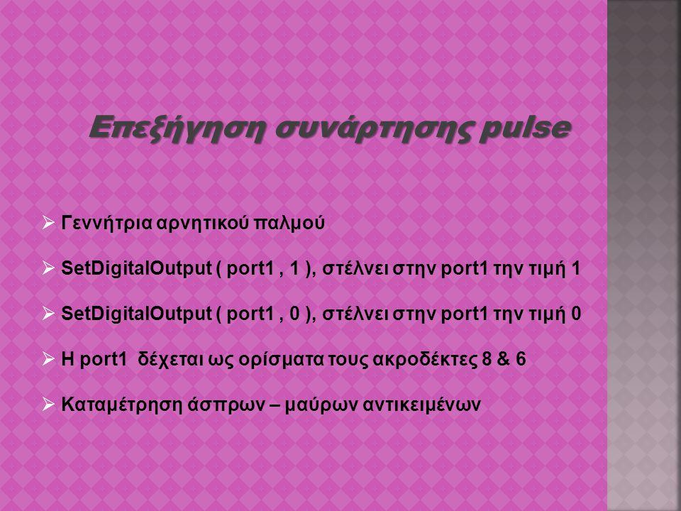 Επεξήγηση συνάρτησης pulse