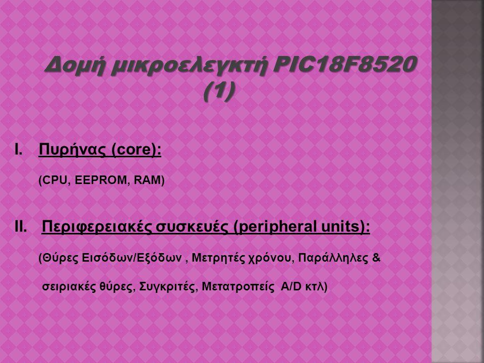 Δομή μικροελεγκτή PIC18F8520 (1)