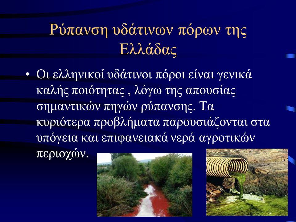 Ρύπανση υδάτινων πόρων της Ελλάδας