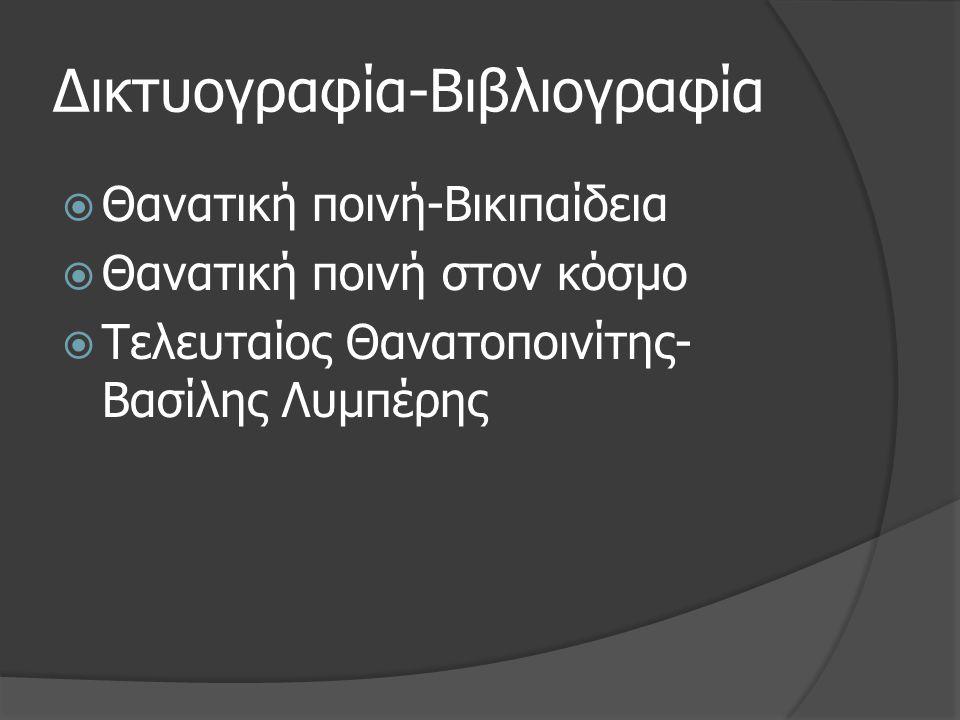 Δικτυογραφία-Βιβλιογραφία