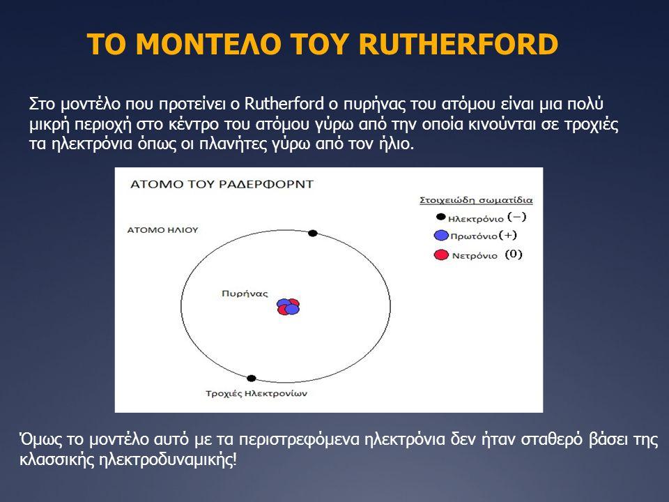 ΤΟ ΜΟΝΤΕΛΟ ΤΟΥ RUTHERFORD