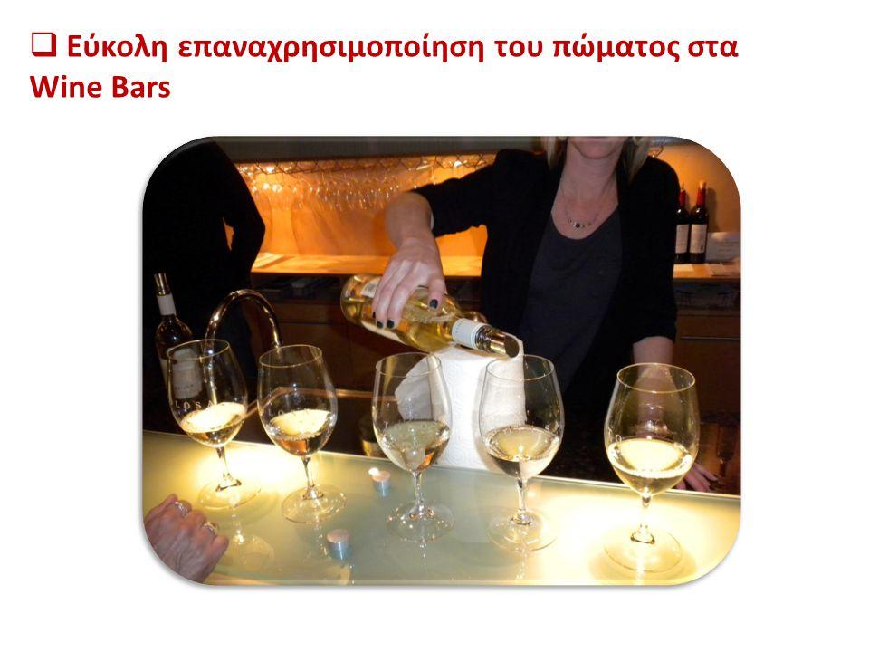 Εύκολη επαναχρησιμοποίηση του πώματος στα Wine Bars