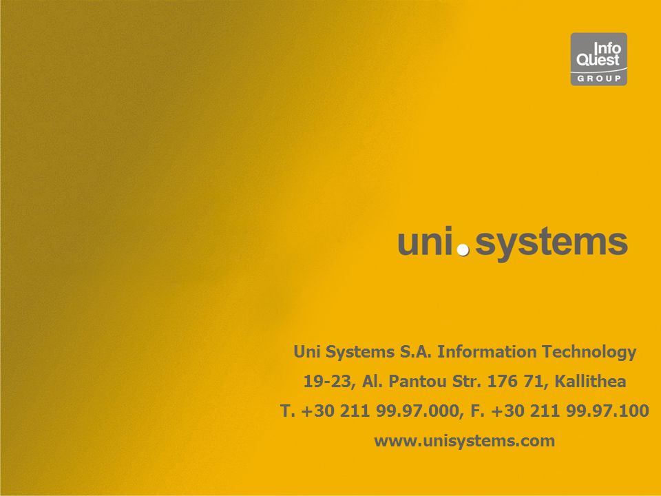 Uni Systems S.A. Information Technology