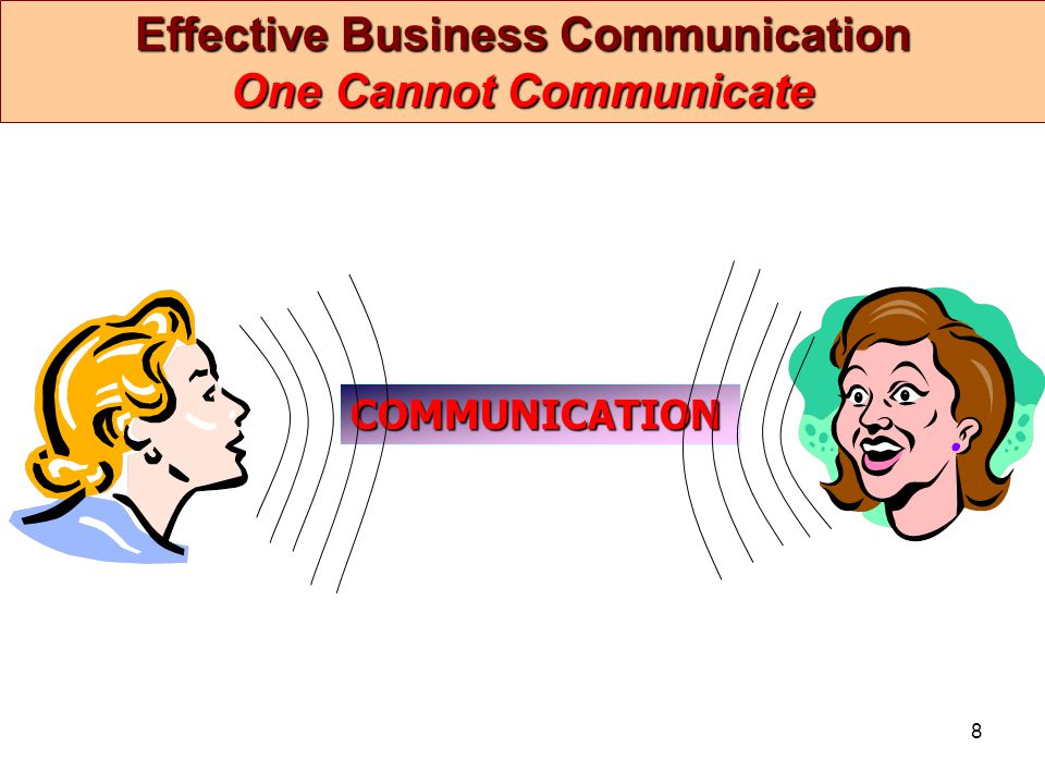 Effective Business Communication One Cannot Communicate