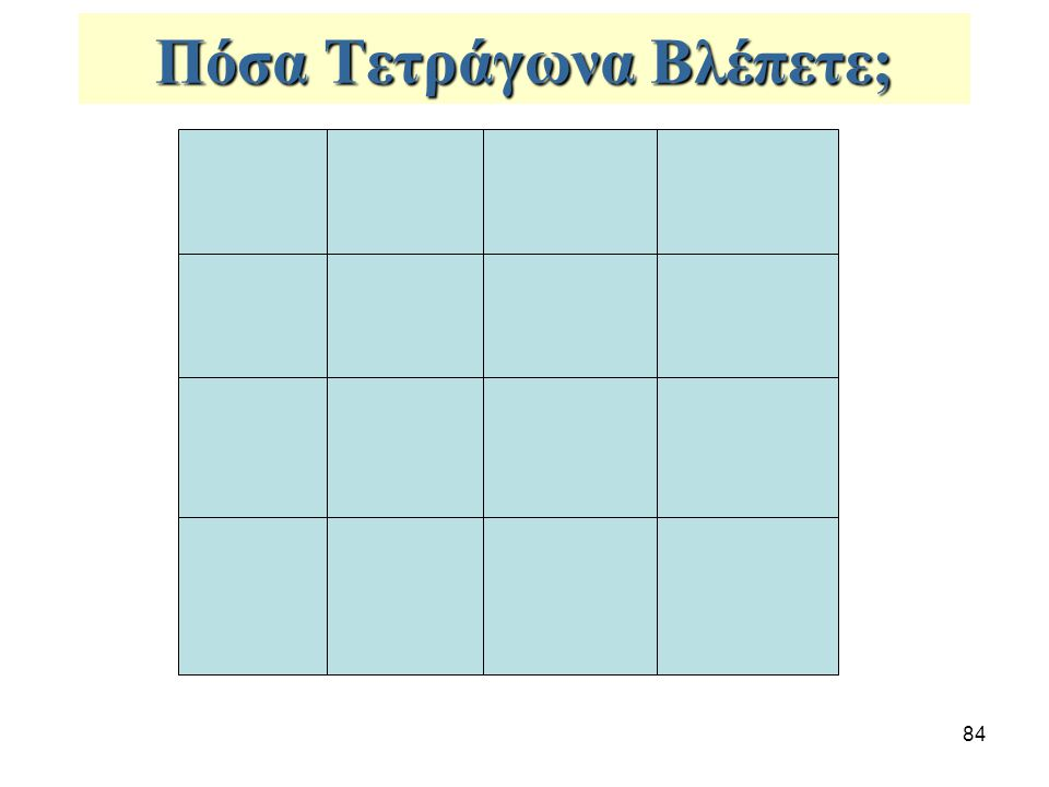 Πόσα Τετράγωνα Βλέπετε;
