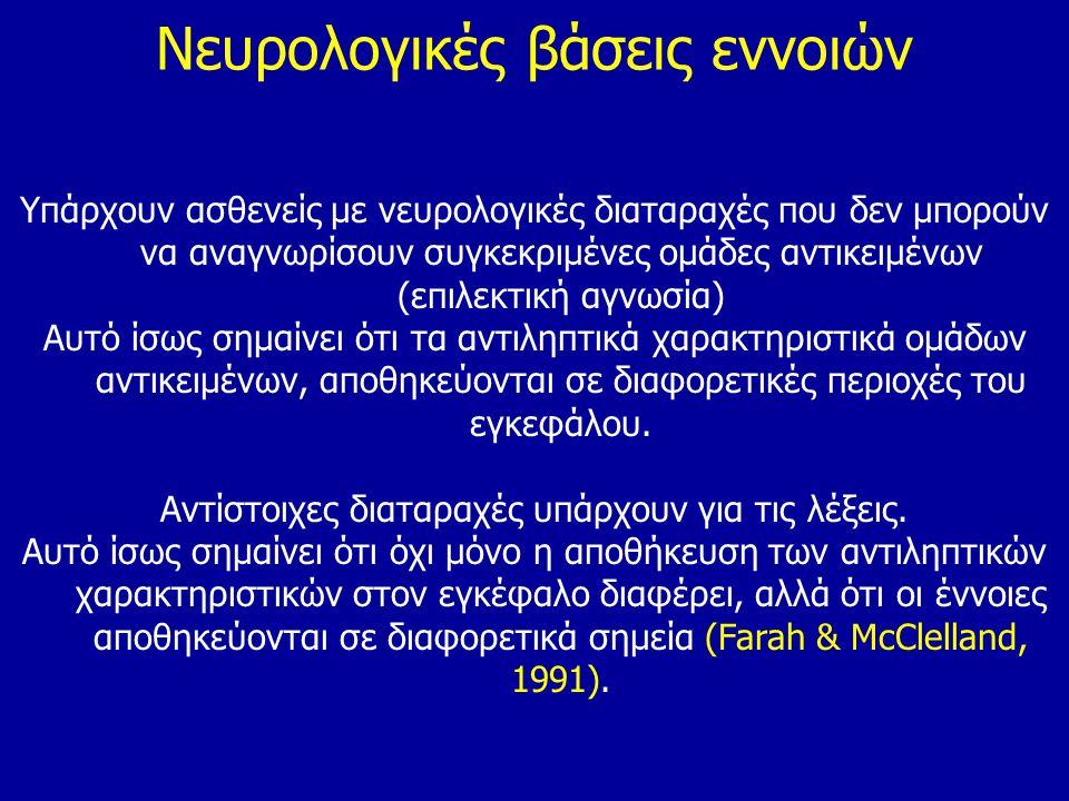 Νευρολογικές βάσεις εννοιών