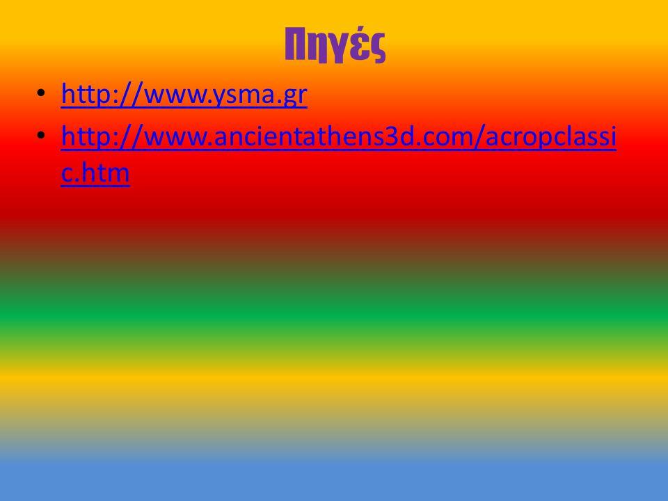 Πηγές http://www.ysma.gr