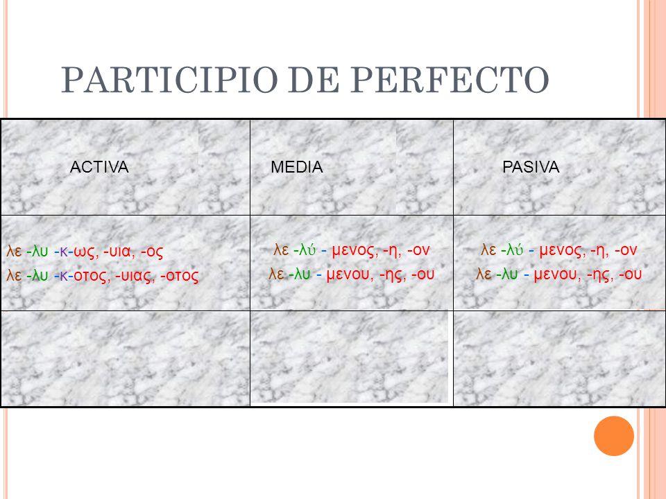 PARTICIPIO DE PERFECTO