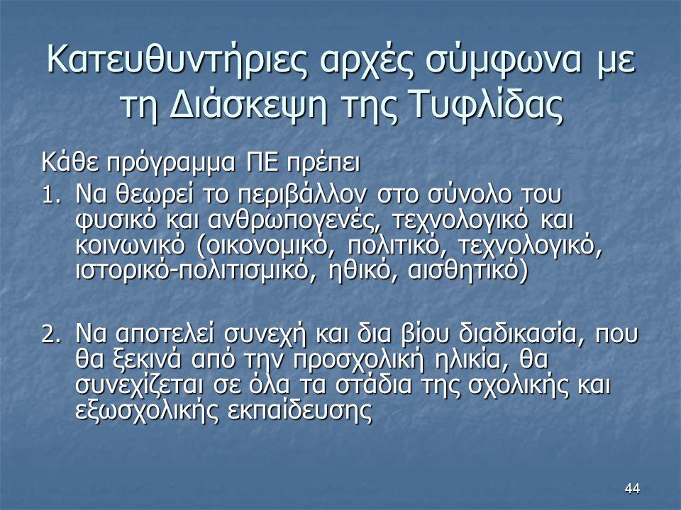 Κατευθυντήριες αρχές σύμφωνα με τη Διάσκεψη της Τυφλίδας