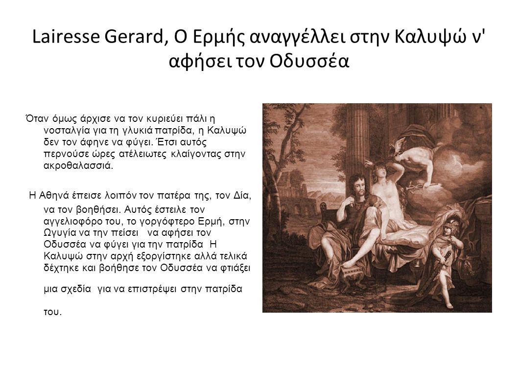 Lairesse Gerard, Ο Ερμής αναγγέλλει στην Καλυψώ ν αφήσει τον Οδυσσέα
