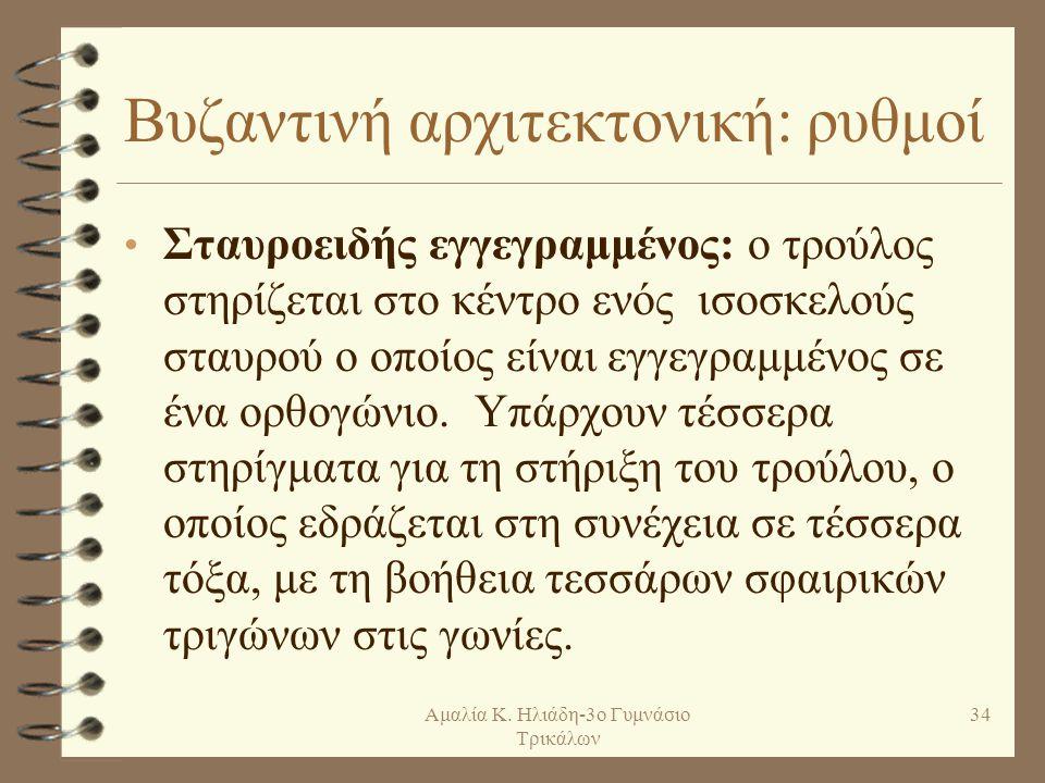 Βυζαντινή αρχιτεκτονική: ρυθμοί
