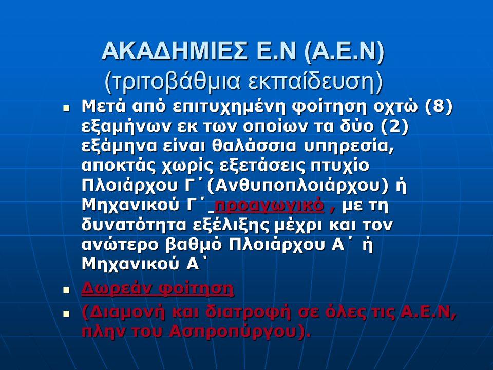 ΑΚΑΔΗΜΙΕΣ Ε.Ν (Α.Ε.Ν) (τριτοβάθμια εκπαίδευση)