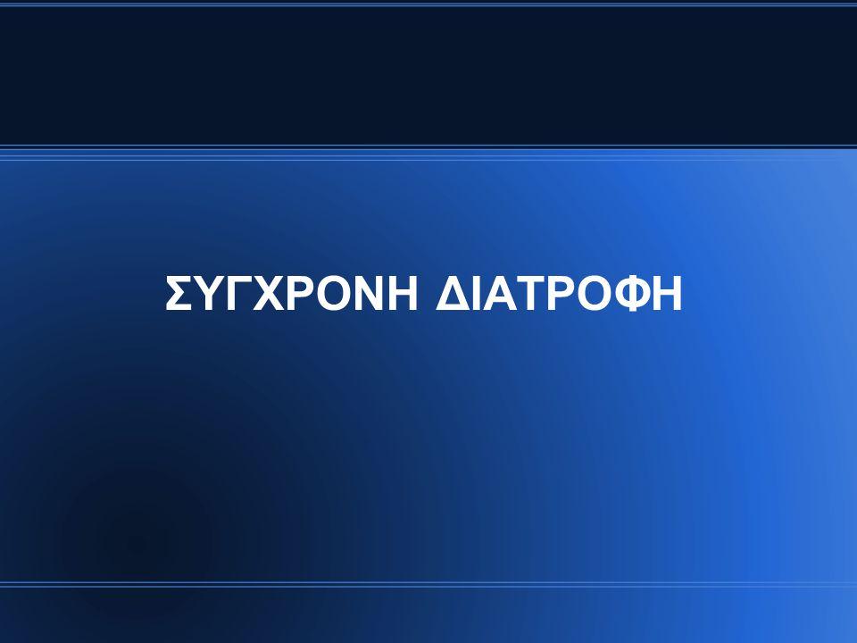 ΣΥΓΧΡΟΝΗ ΔΙΑΤΡΟΦΗ