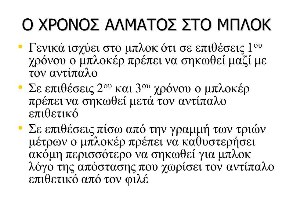 Ο ΧΡΟΝΟΣ ΑΛΜΑΤΟΣ ΣΤΟ ΜΠΛΟΚ