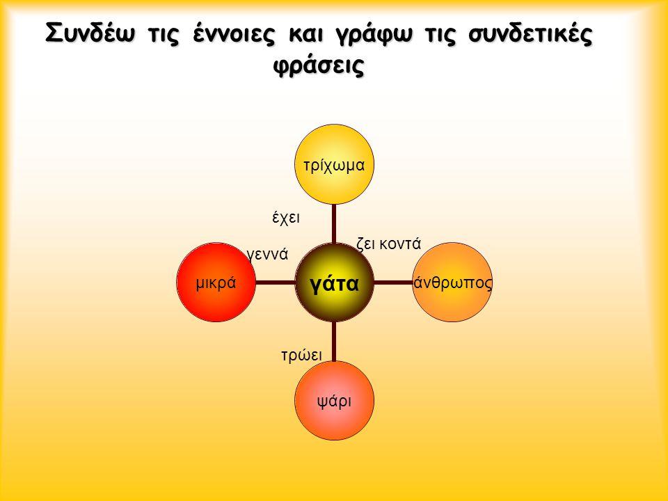 Συνδέω τις έννοιες και γράφω τις συνδετικές φράσεις