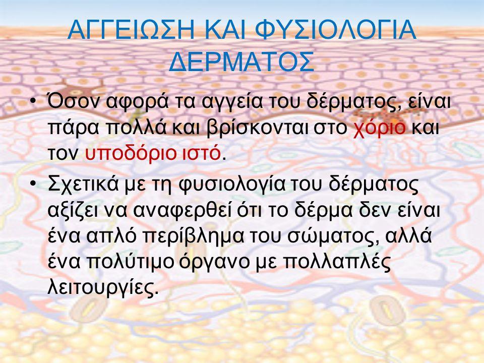ΑΓΓΕΙΩΣΗ ΚΑΙ ΦΥΣΙΟΛΟΓΙΑ ΔΕΡΜΑΤΟΣ