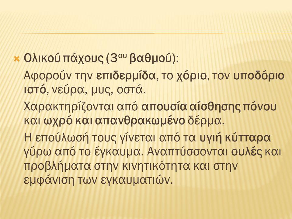 Ολικού πάχους (3ου βαθμού):
