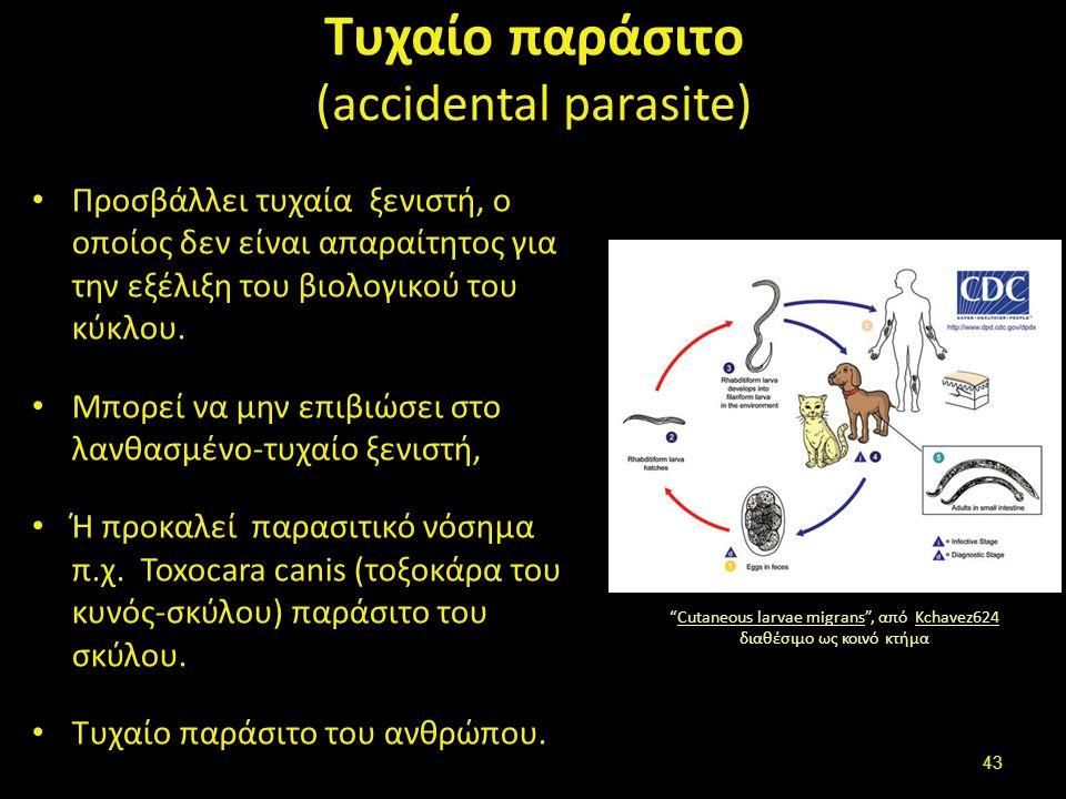 Ευκαιριακό παράσιτο (opportunistic parasite)