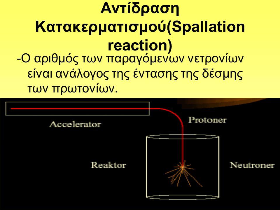 Αντίδραση Κατακερματισμού(Spallation reaction)