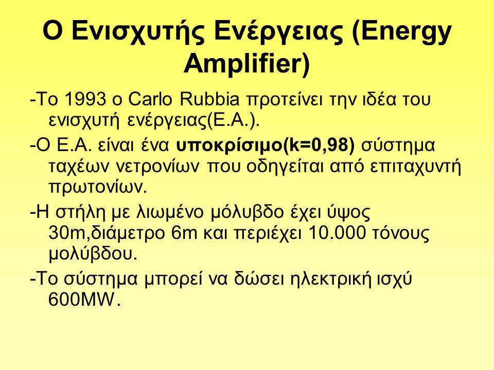 Ο Ενισχυτής Ενέργειας (Εnergy Amplifier)