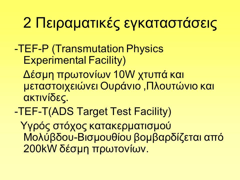 2 Πειραματικές εγκαταστάσεις