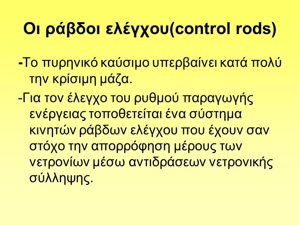 Oι ράβδοι ελέγχου(control rods)