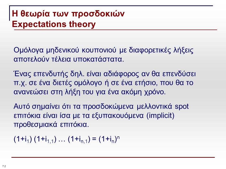 Η θεωρία των προσδοκιών Expectations theory