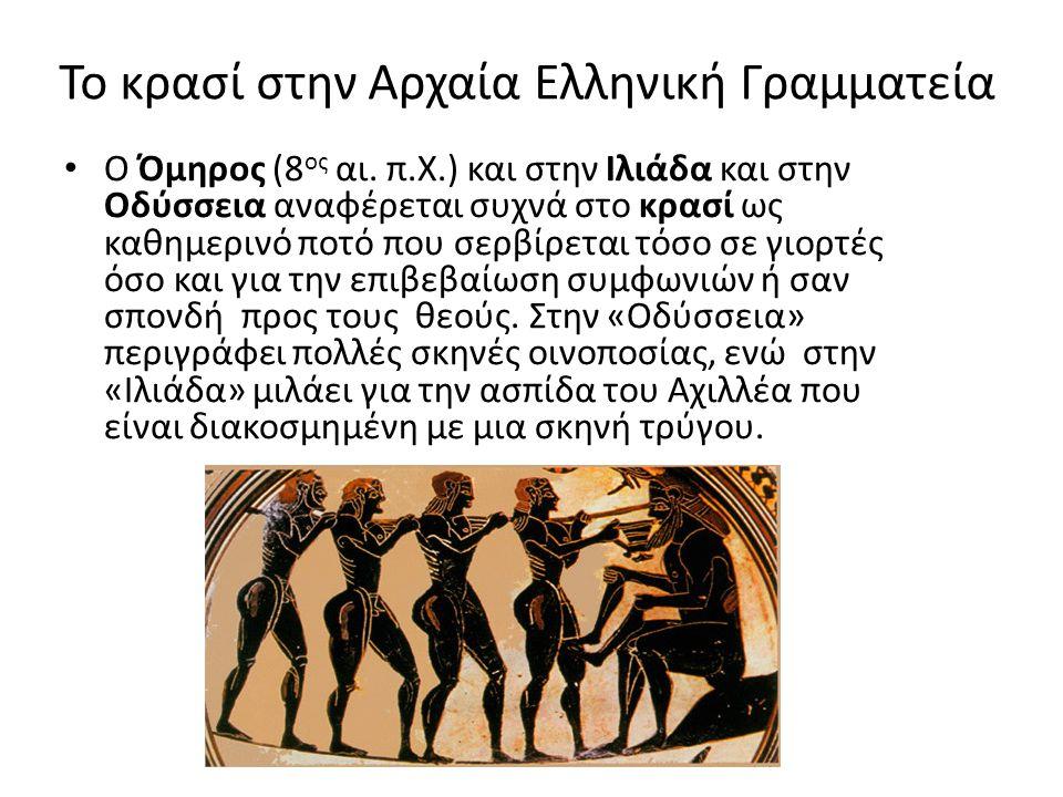 Το κρασί στην Αρχαία Ελληνική Γραμματεία