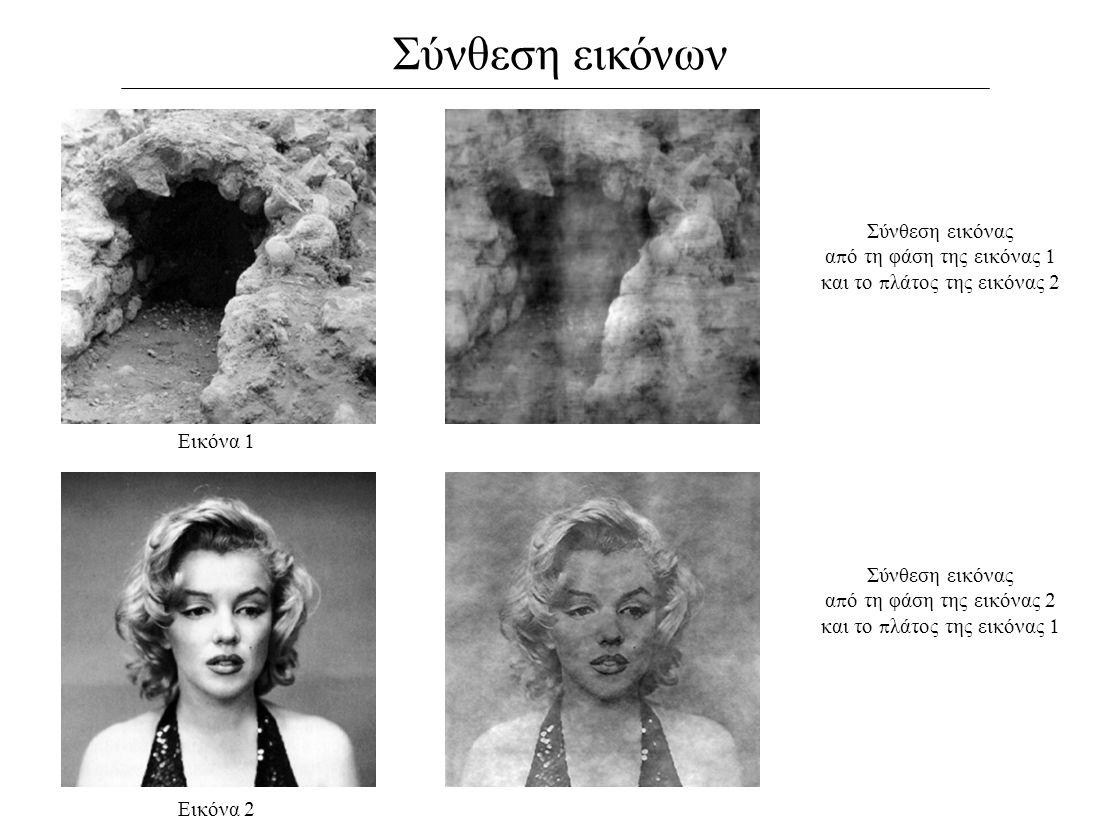 Σύνθεση εικόνων Σύνθεση εικόνας από τη φάση της εικόνας 1