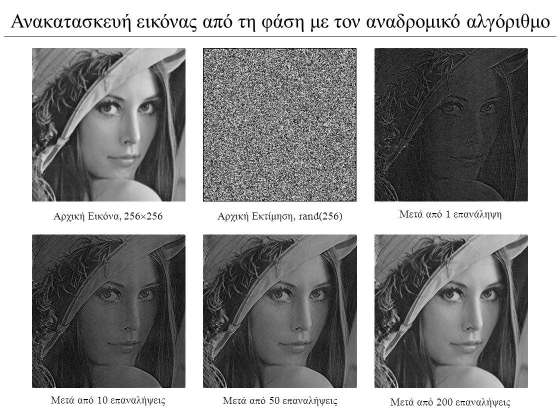 Ανακατασκευή εικόνας από τη φάση με τον αναδρομικό αλγόριθμο
