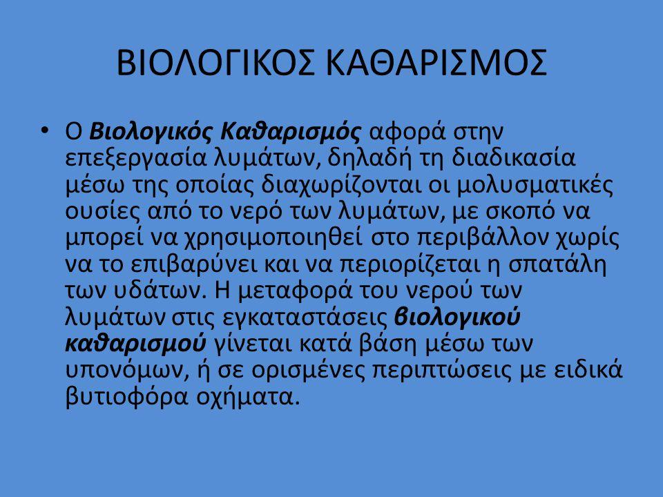 ΒΙΟΛΟΓΙΚΟΣ ΚΑΘΑΡΙΣΜΟΣ