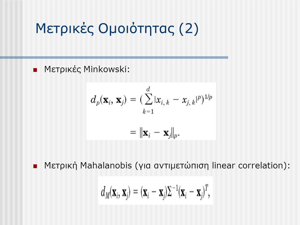 Μετρικές Ομοιότητας (2)