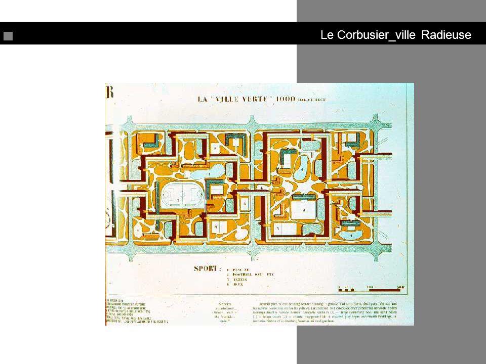 Le Corbusier_ville Radieuse