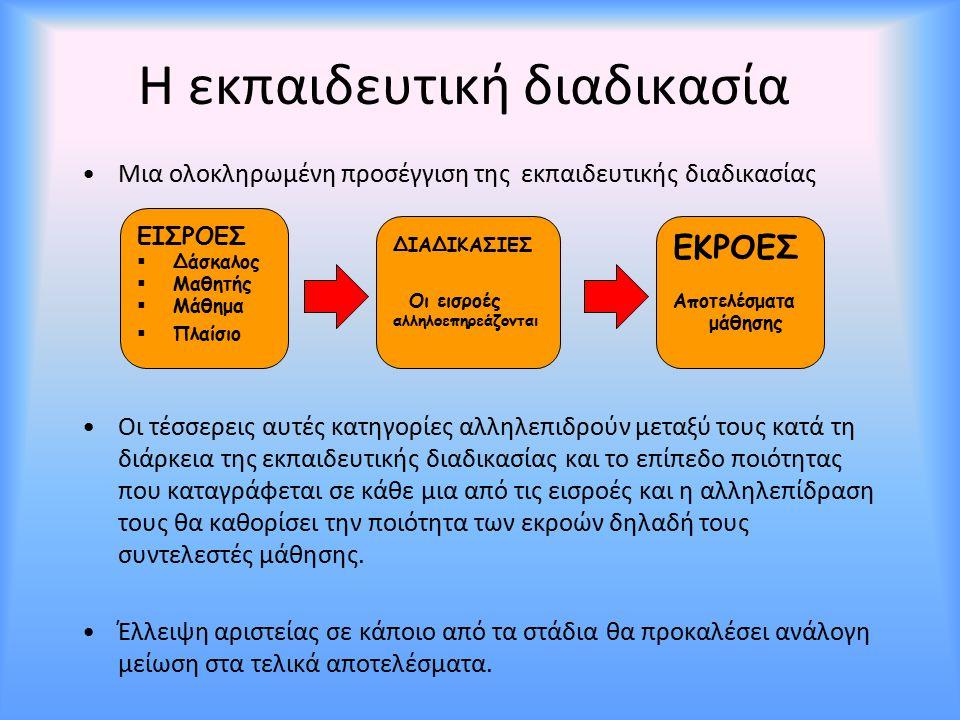 Η εκπαιδευτική διαδικασία