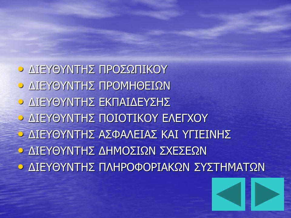 ΔΙΕΥΘΥΝΤΗΣ ΠΡΟΣΩΠΙΚΟΥ