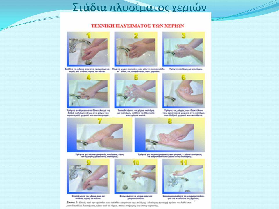 Στάδια πλυσίματος χεριών