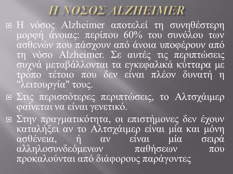 Η ΝΟΣΟΣ ALZHEIMER